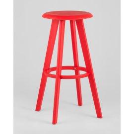 Барный стул Hoker 0862 вращающийся (красный)