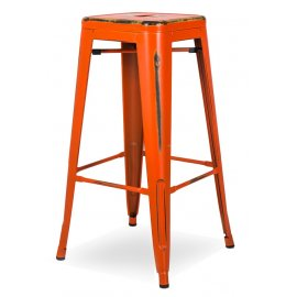 Барный стул N-36 Retro orange