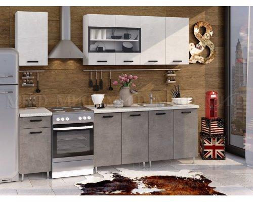 Кухня Рио 2.0 ЛДСП (бетон светлый/темный)