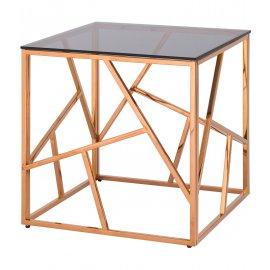 Журнальный стол Арт Деко (розовое золото)