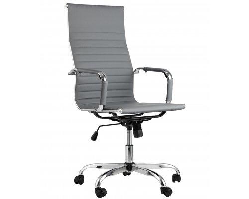 Кресло руководителя TopChairs City (серый)