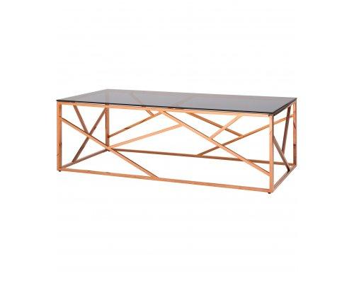 Журнальный стол Арт Деко 120 (розовое золото)