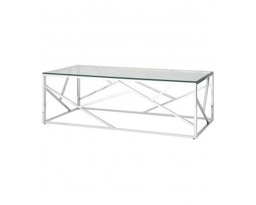 Журнальный стол Арт Деко 120 (серебро)