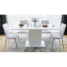 Стол обеденный раздвижной тип 1 Diamond (белый глянец)