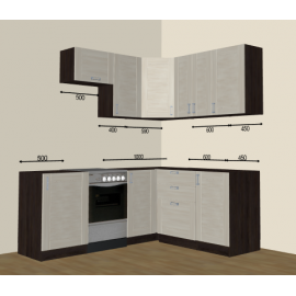 Кухня Лофт угловая 2000х1650 (проект)