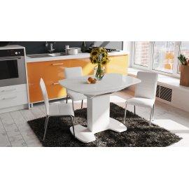 Стол обеденный Портофино (белый глянец) раздвижной