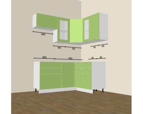 Кухня Валерия-М 1600х1400 (проект)