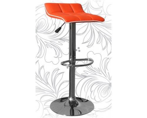 Барный стул LM-5014 orange/white