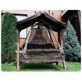Подвесные плетеные качели CEAPA с каркасом Каравелла