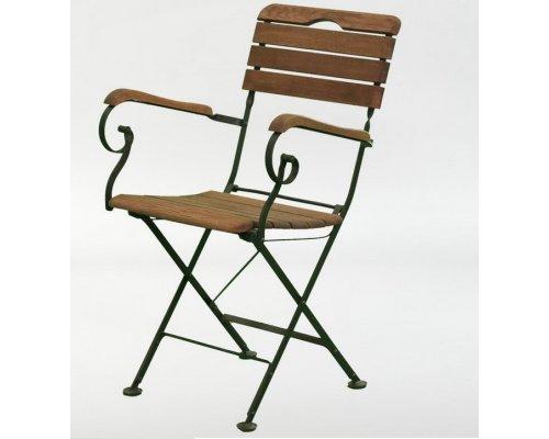 Кресло складное с подлокотниками