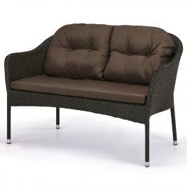 Плетеный диван из искусственного ротанга S54A-W53 Brown