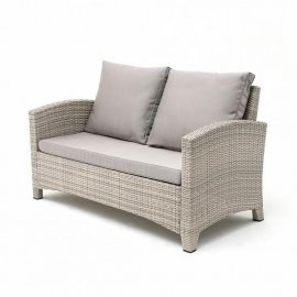 Плетеный диван из искусственного ротанга S58B-W85 Latte