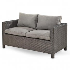 Плетеный диван из искусственного ротанга S59A-W53 Brown