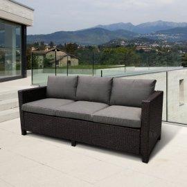 Плетеный диван из искусственного ротанга S65A-W53 Brown