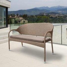 Плетеный диван из искусственного ротанга S70B-W56 Light Brown