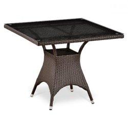 Обеденный стол из искусственного ротанга T220BT-W51-90x90 Brown
