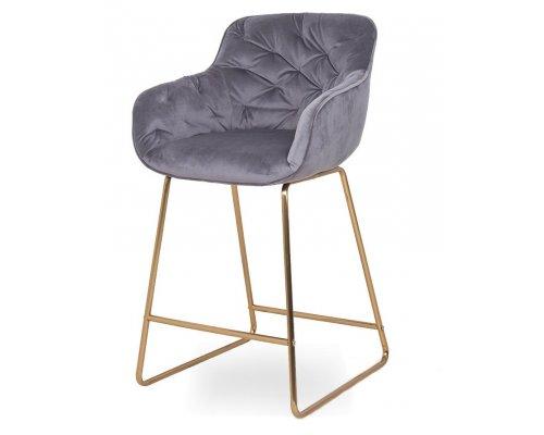 Барный стул D12 GREY (VIC 28) GOLDEN