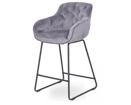 Барный стул D12 GREY (VIC 28) BLACK