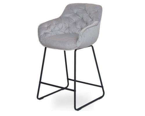 Барный стул D12 LIGHT GREY (VIC 25)/BLACK