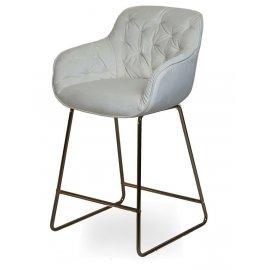 Барный стул D12 MILK (VIC 1)/GOLDEN