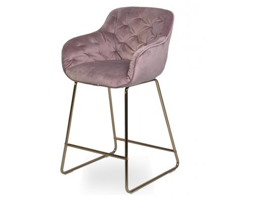 Барный стул D12 OLD PINK (VIC 18)/GOLDEN