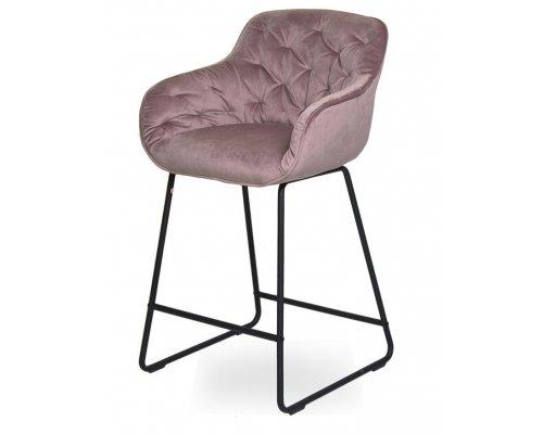 Барный стул D12 OLD PINK (VIC 18)/BLACK