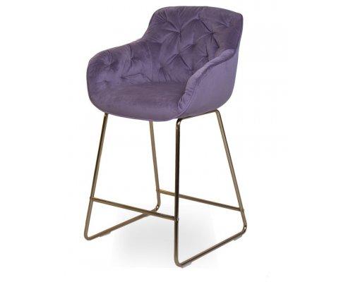 Барный стул D12 PURPLE (VIC 73)/GOLDEN