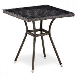 Обеденный стол из искусственного ротанга T282BNT-W53-70x70 Brown