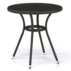 Обеденный стол из искусственного ротанга T282ANS-W53-D72 Brown