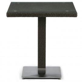 Плетеный стол из искусственного ротанга T605SWT-W53-70x70 Brown
