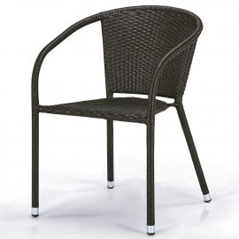 Кресло из искусственного ротанга Y-137C-W53 Brown