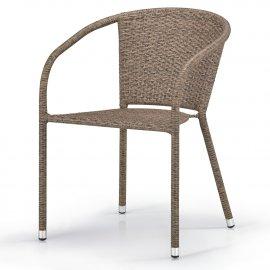 Кресло из искусственного ротанга Y-137C-W56 Light brown