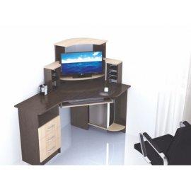 Компьютерный стол Грета-7 (венге/дуб молочный)