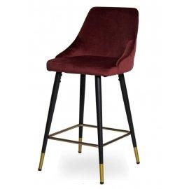 Барный стул WY-20 Dark red (WY11-46)/Black