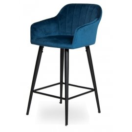 Барный стул WY-22 Blue (W11-108)/Black