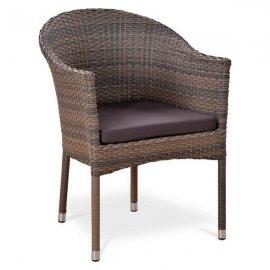 Кресло из искусственного ротанга Y350G W1289 Pale