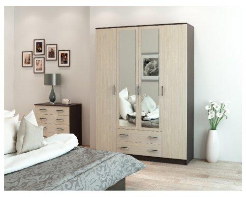Шкаф Фиеста 4-х дверный с зеркалом
