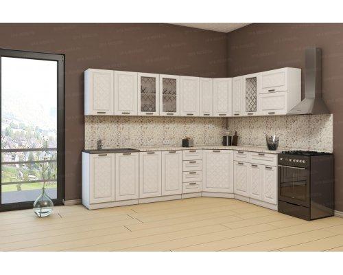 Угловая кухня Агава 2850х1850 (лиственница светлая)