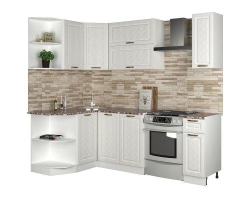 Угловая кухня Агава 1285х1700 (лиственница светлая)