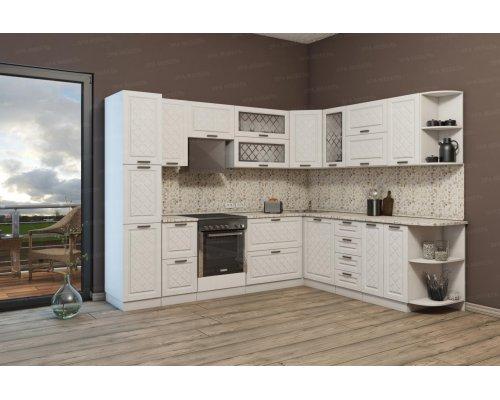 Угловая кухня Агава 2800х2290 (лиственница светлая)