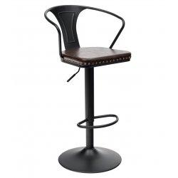 Барный стул Tolix ARMS SOFT (черный)