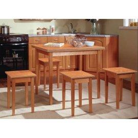 Комплект: Обеденный стол Прямая нога + табуреты