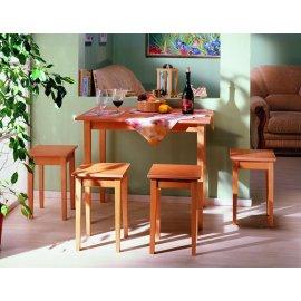 Комплект: обеденный стол Прямая нога раскладной + табуреты