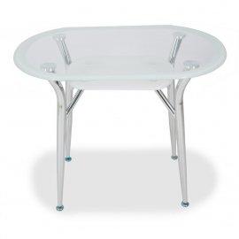 Обеденный стол S-604 (super white line) 900