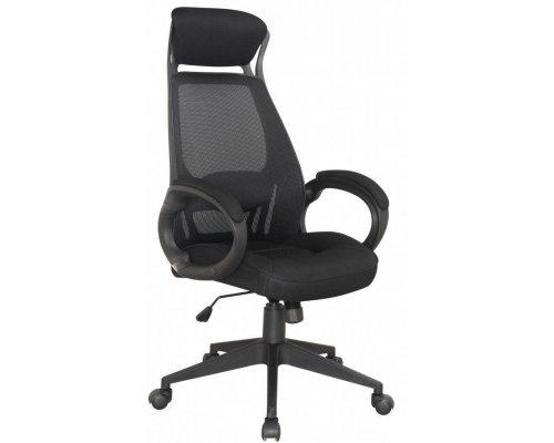 Кресло руководителя RT-009 black (черная спинка/черный пластик)