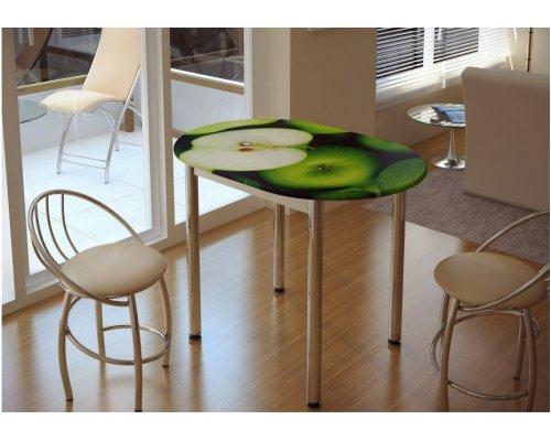 Обеденный стол с принтом Зеленое яблоко