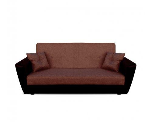 Диван Амстердам 120 рогожка (коричневый)