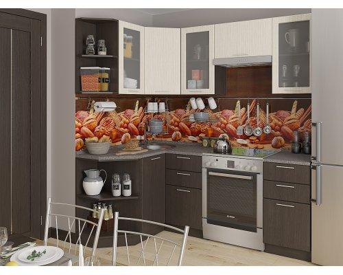 Угловая кухня Валерия М-04 дуб беленый/венге