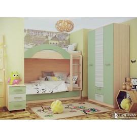 Детская комната Рико №19 (Зеленый/модерн)