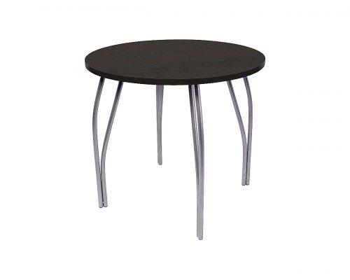 Обеденный стол LC-11 круглый (черное дерево)